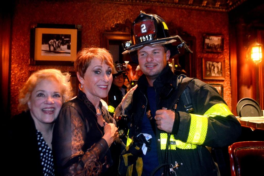 Amanda with a fireman