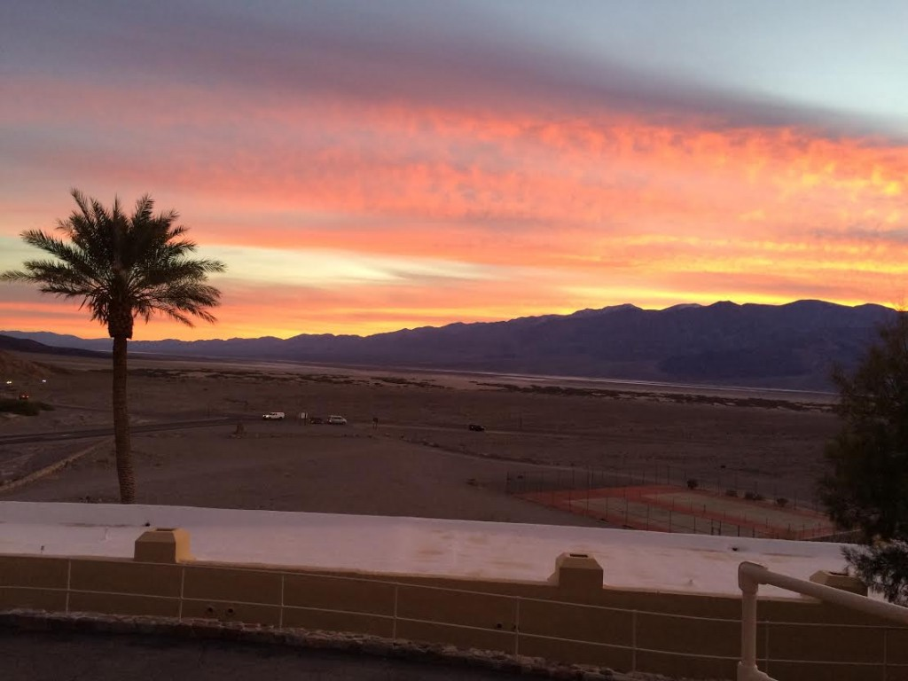 The sunset from the front porch on our anniversary.